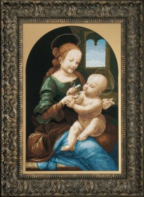 Набор для вышивки крестом Мадонна Бенуа (По мотива Леонардо да Винчи) Чарiвна мить (Чаривна мить) М-218 - 869.00грн.