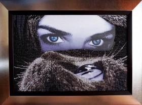 Набор для вышивки бисером на габардине Глаза в глаза, , 588.00грн., НЮ-064, Миледи, Люди