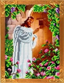 Набор для вышивки бисером Иисус, стучащий в дверь Каролинка КБИН-4058 - 165.00грн.