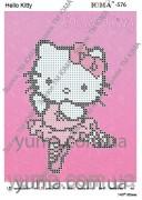 Схема вышивки бисером на атласе Hello Kitty