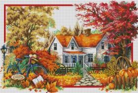 Набор для выкладки алмазной мозаикой Времена года: Осень