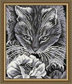 Набор для выкладки алмазной техникой Кот и пчела, , 280.00грн., АТ5524, Art Solo, Алмазная мозаика