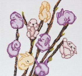 Набор для вышивки крестом Мартовские зайчики Абрис Арт АН-046 - 234.00грн.
