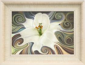 Набор для частичной вышивки крестом Белая лилия, , 428.00грн., РК-109, Чарiвна мить (Чаривна мить), Пейзажи