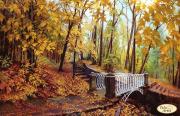 Схема для вишивання бісером на атласі Міст у осінь