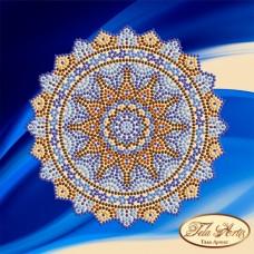 Схема вышивки бисером на атласе Мандала Кобальт Tela Artis (Тэла Артис) МА-007 ТА