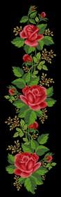 Схема вышивки бисером на атласе Красные розы