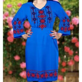 Заготовка женского платья на синем габардине Biser-Art Bis6045 - 470.00грн.