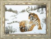 Набор для вышивки крестом Игривые тигры