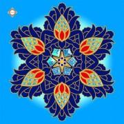 Схема-заготовка для вышивки бисером декоративной подушки Royal Sapphire Damask