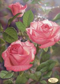 Схема для вышивки бисером на атласе Первые лучи, , 95.00грн., ТА-387, Tela Artis (Тэла Артис), Цветы