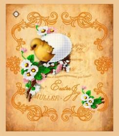 Схема вышивки бисером на габардине Салфетка Радость Пасхи Миледи СЮ-003 - 132.00грн.