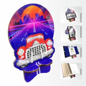 Подставка под телефон с алмазной мозаикой Ретроавтомобиль