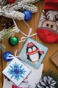 Набір для вишивки новорічной прикраси Милий пінгвінчик