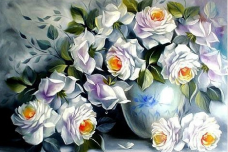 Набор для выкладки алмазной мозаикой Белые розы DIAMONDMOSAIC DM-046