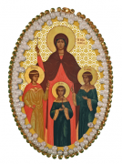 Набор для изготовления подвески Вера Надежда Любовь и мать их Софья