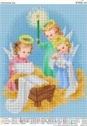 Схема вышивки бисером на атласе Ангельский сыночек