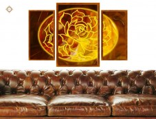 Схема для вышивки бисером на атласе Цветок богини любви Триптих Миледи СЛТ-2212