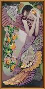 Схема для вышивки бисером на атласе Яблоневый сад