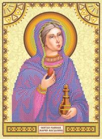 Схема для вышивки бисером на холсте Святая Мария