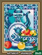 Рисунок на ткани для вышивки бисером Гжель. Яблоки