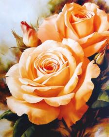 Набор для выкладки алмазной мозаикой Букет чайных роз