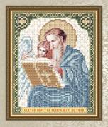 Схема для вышивки бисером на габардине Святой Апостол Евангелист Матвей