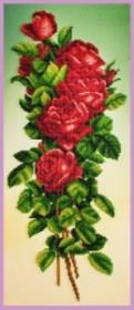 Набор для вышивки бисером Букет красных роз, , 400.00грн., Р-348, Картины бисером, Цветы