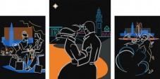 Схема для вышивки бисером на атласе Любовь в большом городе Миледи СЛТ-2208