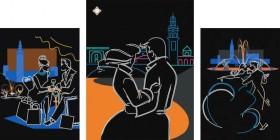 Схема для вышивки бисером на атласе Любовь в большом городе Миледи СЛТ-2208 - 345.00грн.