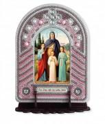 Набор для вышивки иконы с рамкой-киотом Св. Вера, Надежда, Любовь и мать их Софья