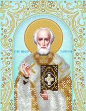 Схема для вышивки бисером на атласе Св. Николай Чудотворец