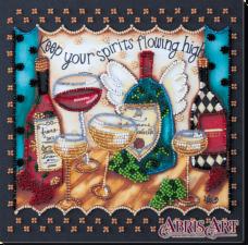 Набор-миди для вышивки бисером на натуральном художественном холсте Пятничное Абрис Арт AMB-033