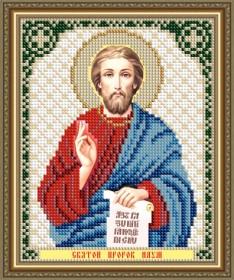 Схема вышивки бисером на авторской канве Святой Пророк Наум