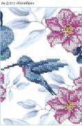 Схема для вышивки бисером на габардине Колибри