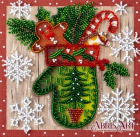 Набор-мини для вышивки бисером на натуральном художественном холсте Детский праздник Абрис Арт AM-200 - 102.00грн.