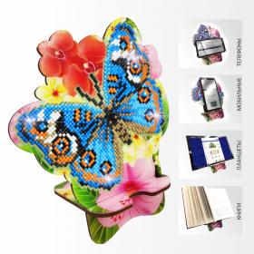 Подставка под телефон с алмазной мозаикой Бабочка и Орхидея