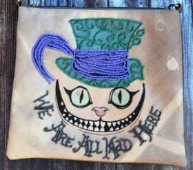 Пошитый клатч для вышивки бисером We're all mad here, , 430.00грн., КС-009, Миледи, Сумки