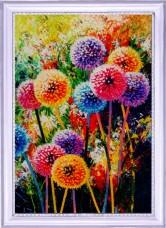 Набор для вышивки бисером Радужные одуванчики  Баттерфляй (Butterfly) 134Б