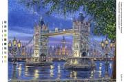 Рисунок на габардине для вышивки бисером Чарівний світ: Лондонський міст