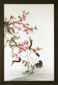 Набор для частичной вышивки крестом Журавли, собирающие росу, , 355.00грн., РК-121, Чарiвна мить (Чаривна мить), Пейзажи
