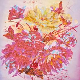Схема для вышивки бисером на холсте Розовый шербет