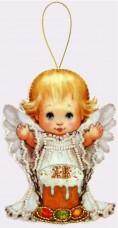 Набор для изготовления куклы из фетра для вышивки бисером Пасхальный ангелочек Баттерфляй (Butterfly) F054