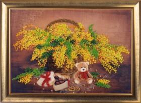 Набор для вышивки бисером Корзинка с мимозой, , 227.00грн., 153Б, Баттерфляй (Butterfly), Цветы