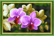 Схемы для вышивания бисером на авторской канве Орхидеи