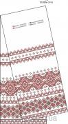 Схема вышивки бисером на габардине Свадебный рушник