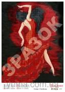 Схема вышивки бисером на атласе Фламенко