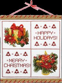 Набор для вышивки нитками на канве Любимый праздник, , 205.00грн., КО3019, Новая Слобода (Нова слобода), Новый год