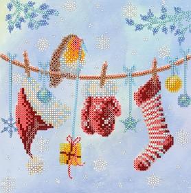 Схема вышивки бисером на холсте Новогоднее настроение, , 52.00грн., АС-524, Абрис Арт, Новый год