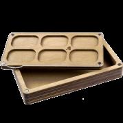 Органайзер для бисера многоярусный с крышкой FLZB-085